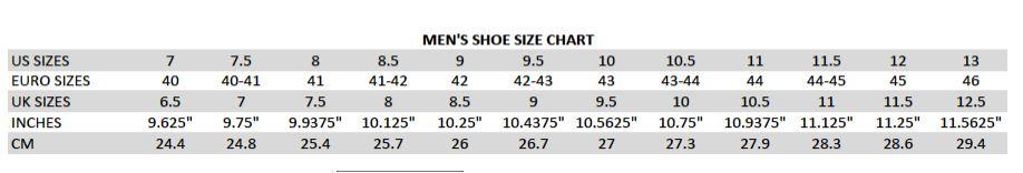 shoessize chart