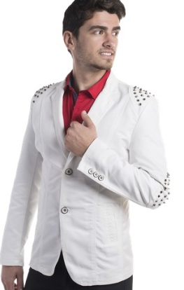 blazer with metal patch studs on shoulders and elbows moist melrose2