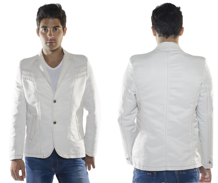 FASHION WHITE BLAZER BL1916